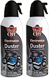 Dust-Off - The Original Compressed Air Gas Duster 10 oz XL Can, Made in North America, Ozone Free, Recyclable can When Empty (2 Pack)