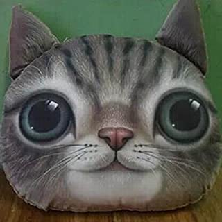 Duoduo888 3D Effect Big Cat Face Decorative Cuddle Pillow Car Sofa Chair Back Home Decoration 1#