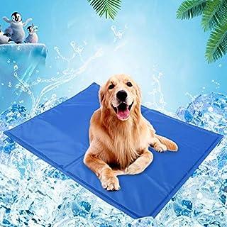 Pet Dog Cat Summer Cool Mat, Pet Self Cooling Gel Pad, Pressure Activated, Anti-inflammatory, 100% Safe Non-Toxic Material...