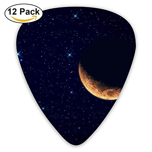 12-pack Fashion Classic Electric Guitar Picks Plectrums Crescent Moon Instrument Standard Bass Guitarist