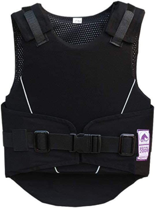 qxj Children Equestrian Vest, EVA Padded Protective Vest, Adjust