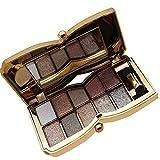 Glitter Eyeshadow Palette, KTOMO 10 Colors Sparkle Eyeshadow Shimmer Pigment Diamond Bright Eyeshadow Pallet Makeup Kit with Brush