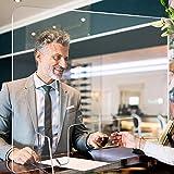 Moweallarge Spuckschutz Plexiglas Virenschutz - Glasklar Plexi Schutzwand Schutzplatte mit Durchreiche Transparente Trennwand für Apotheken Schalter, Büro, Krankenhaus