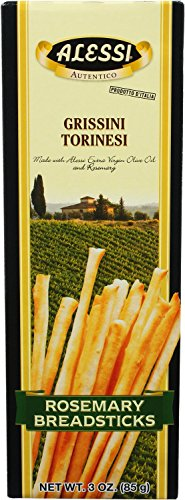 Alessi Rosemary Breadsticks, 3 Ounce (Pack of 12)