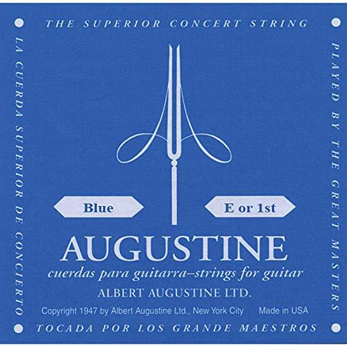 Augustine 650431 Blue Label Corde Seule MI (E1) pour Guitare Classique Tirant Fort
