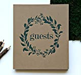 Wedding Guest Book Rustic Photo Guest Book Wedding | Wedding Album Guests | Wedding Guest Registry | Guest Book Sign | Wedding Photo Booth Album | Embossed 8.5'x7.5', 130 Kraft Pgs | Rustic Sign (BR)