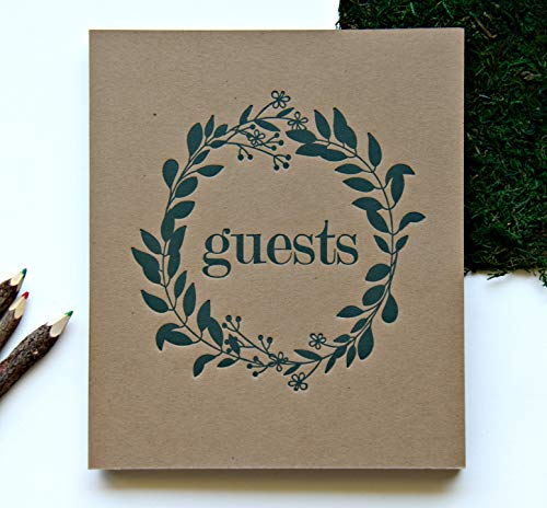 Wedding Guest Book Rustic Photo Guest Book Wedding | Wedding Album Guests | Wedding Guest Registry | Guest Book Sign | Wedding Photo Booth Album | Embossed 8.5 x7.5   130 Kraft Pgs | Rustic Sign (BR)