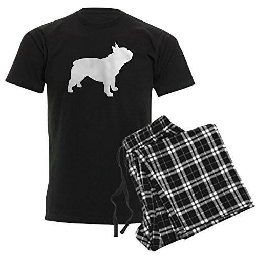 CafePress French Bulldog Men's Dark Pajamas Unisex Novelty Cotton Pajama Set, Comfortable PJ Sleepwear