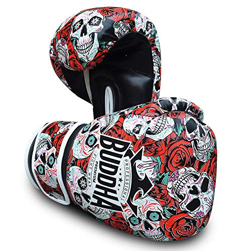 Buddha Fight Wear Guantes de Boxeo Mexican Premium Rojos