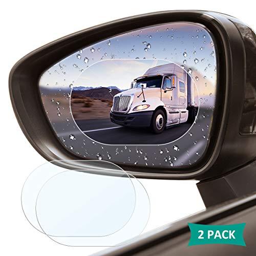 Acetend Auto-Rückspiegel-Schutzfolie, 2 Stück, wasserdicht, regendicht, für alle Automobile und Fahrzeugmodelle geeignet