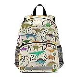 RELEESSS - Mochila infantil con diseño de dinosaurio con correa para el pecho, mochila escolar preescolar, mochila para niños y niñas