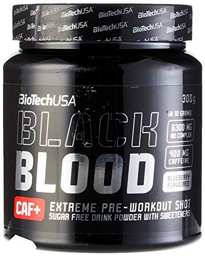 BioTech Black Blood CAF+ Bebida y Batidos Nutritivos, Sabor Arándano - 300 gr