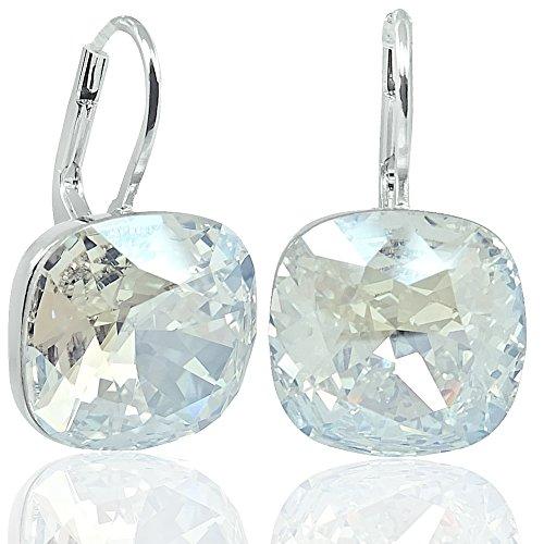 Ohrringe mit Kristalle von Swarovski® Silber Damen-Ohrhänger NOBEL SCHMUCK