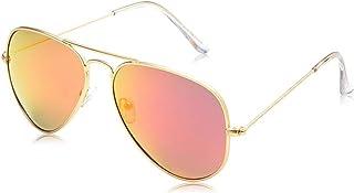 نظارة شمسية للجنسين مقاس 55 ملم من تي اف ال - بني