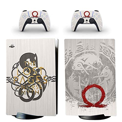 WANGPENG God of War PS5 - Vinilo adhesivo para consola PlayStation 5 y 2 controladores PS5