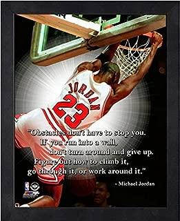 NBA Michael Jordan Chicago Bulls ProQuotes Photo (Size: 9 x 11) Framed