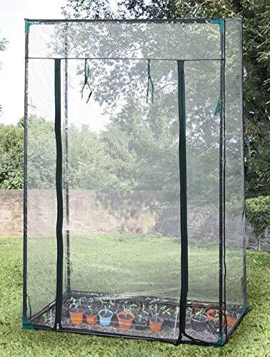 mk24 stabiles Tomaten Gewächshaus Foliengewächshaus Treibhaus Anzucht 100x50x150 Stahlrohr beschichtet stabile PE-Folie ideal für den Obst und Gemüseanbau bestens geeignet für Terrasse und Balkon
