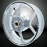 Gloss Negro Titan Outer Rim Liner Stripe Pegatinas para Honda CBR