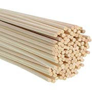 Whaline 120 Pieces Reed Diffuser Sticks 3mm Thick Rattan Room Oil Fragrance Diffuser Refill, 24 cm Long