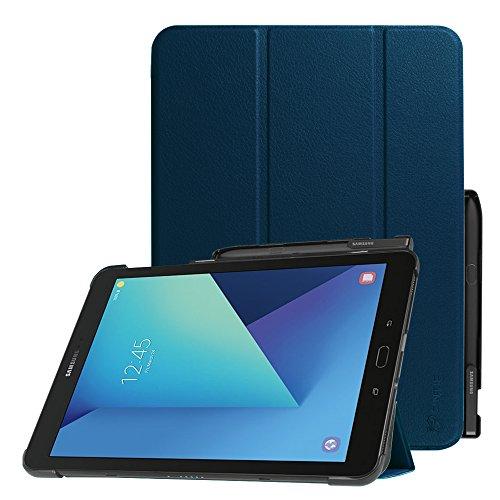 Fintie Hülle für Samsung Galaxy Tab S3 T820 / T825 (9,68 Zoll) Tablet-PC - Ultra Schlank Ständer Schutzhülle Cover Hülle mit Auto Schlaf/Wach Funktion & eingebautem S Pen Halter, Marineblau