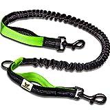 Hundefreund Bungeeteil für Joggingleine | Verlängerung für Hundeleine | Ersatzleine mit elastischem Gummizug und 2 Schlaufen