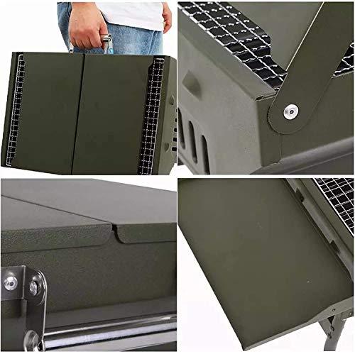 51nCnuhmceL. SL500  - ZCxiyu Grill faltbar tragbarer Camping BBQ Outdoor Iron Folding Picknick Zubehör für 12 Personen Praktisch/Grün / 82x30x35cm (Color : Green, Size : 82x30x35cm)