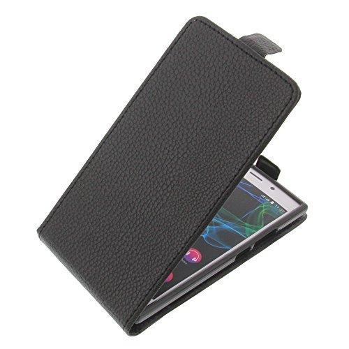 foto-kontor Tasche für Wiko Ridge 4G Flipstyle Schutz Hülle Handytasche schwarz