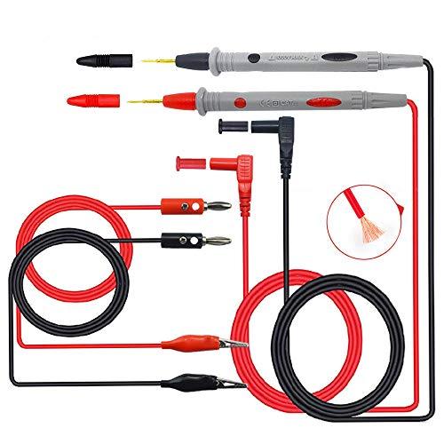 Senven (2 Pcs) professionelle multifunktions multimeter elektronische messleitungen test kit zubehör, multimeter Krokodilklemme test sonde Werkzeug, bananenkopf, für labor test, elektrische prüfung
