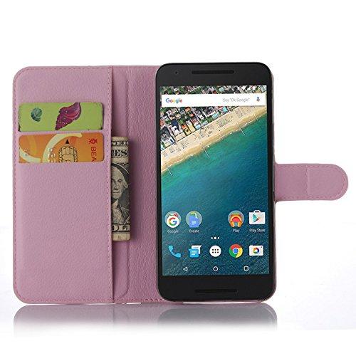 Ycloud Funda Libro para LG (Google) Nexus 5X, Suave PU Leather Cuero con Flip Cover, Cierre Magnético, Función de Soporte,Billetera Case con Tapa para Tarjetas + 1x Lápiz óptico (Polvo)