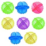 Kuber Industries Transparent Silicone Washing Machine Ball Laundry Dryer Ball Durable Cloth Cleaning Ball (Set Of 8,Multi)-KUEMART3332