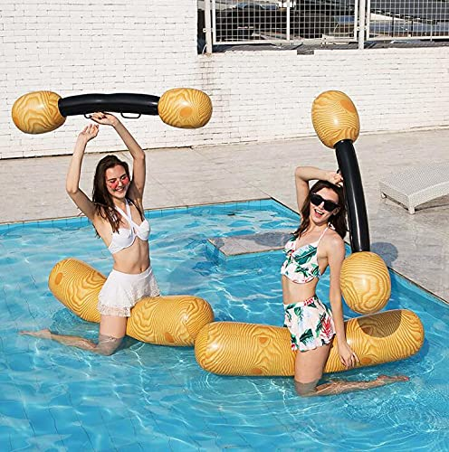 CHQY 2 juegos de juguetes flotantes inflables para adultos y niños, piscina, fiestas, deportes acuáticos, balsa, juguetes flotantes, 140 x 35 cm