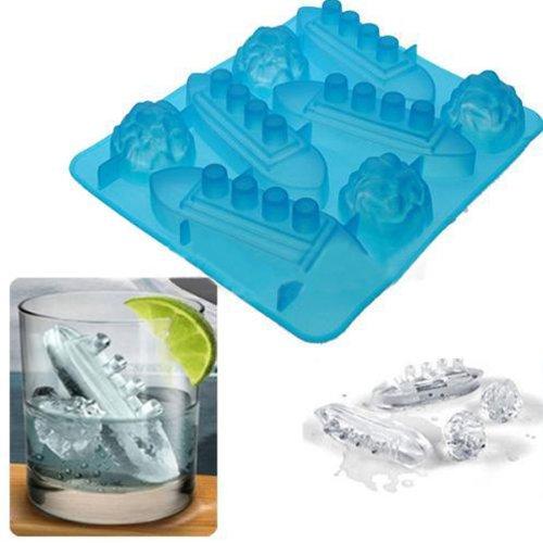 Stampo in silicone per cubetti di ghiaccio, forma: Titanic