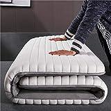 Aickert colchón látex 90 * 200cm~180 * 200cm tatami japonés confort futón enrollable funda antialérgica colchón cama plegable cubre colchón,white,120 * 200cm