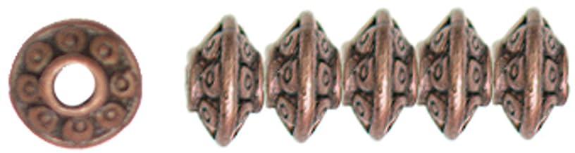 Cousin Jewelry Basics 45-Piece 6mm Rondelle Bead, Copper