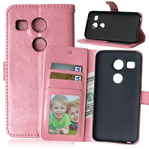 Fatcatparadise Funda para LG Nexus 5X [con Protector Pantalla], Carcasa con Tapa...