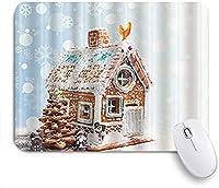 KAPANOU マウスパッド、クリスマスジンジャーブレッドビレッジハウスツリー おしゃれ 耐久性が良い 滑り止めゴム底 ゲーミングなど適用 マウス 用ノートブックコンピュータマウスマット