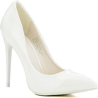 Beast Fashion Sasha-02 Pointy Toe Shiny Patent Stiletto Heel Slip On Pump