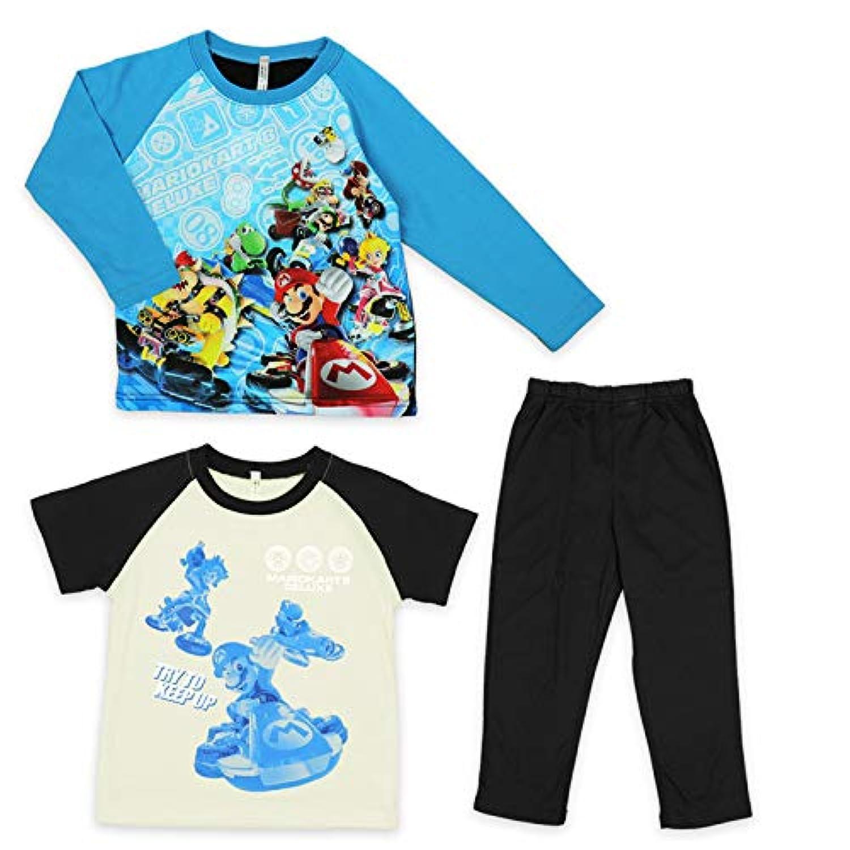 パジャマ マリオ 光るパジャマ 2トップス スーパーマリオ 男の子 110 120 130