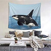 クジラ 壁掛けタペストリ インテリア飾り 壁飾り おしゃれ 模様替え 年中使用 150x130cm