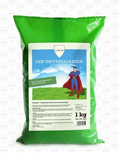 Linsor Universalrasen 1 kg | Qualitäts Rasen aus einer speziell zusammengesetzten Gräsermischung | Für einen schönen Garten