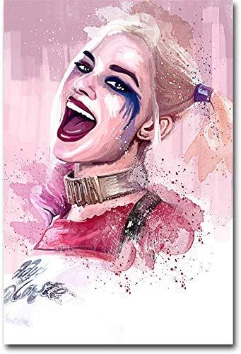 51nCr2dxZXL Harley Quinn Canvas Wall Art