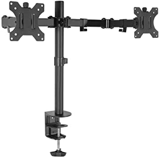 Artiss Dual Monitor Mount LED Monitor Stand 2 Arm Hold Two LCD TV Screen Mount Monitor Desk Mount Bracket
