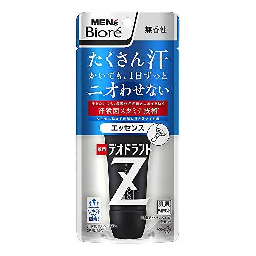 Biore Mens Deodorant Z Essence 40g - No Fragrance (Green Tea Set)