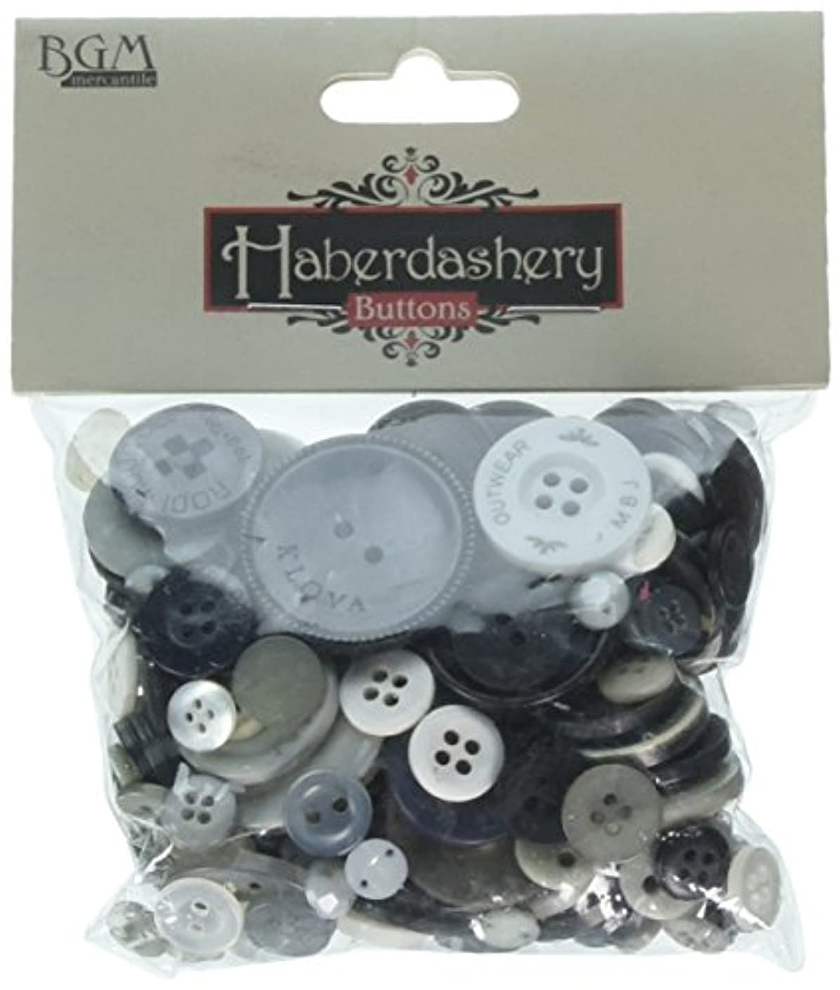 Buttons Galore Haberdashery Hand Dyed Buttons, 3.5-Ounce, Neutral Colors