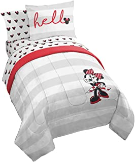 Jay Franco Disney Minnie Mouse Lashes Bed Set, Full