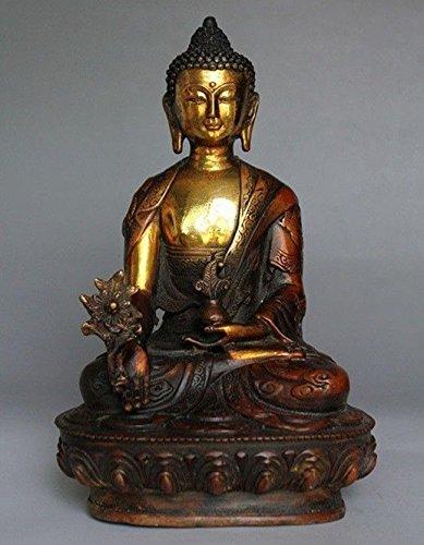 YUNHAO Buddhismus, Buddhismus, Bodhisattva, Sakyamuni, aus tibetischem Messing, 20,3 cm