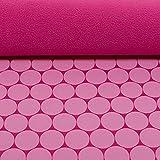 Glünz Softshell Sheldon Kreise pink - Stoff - Meterware -
