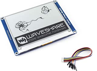 waveshare 4.2inch E-Paper Display Module 400x300 Resolution 3.3V-5V Two-Color E-Ink Display Hat epaper Screen for Raspberry Pi/Arduino/Nucleo Support Full Refresh,SPI Interface