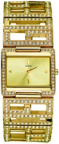 Guess Guess Ladies Jewelry 12504L1 - Reloj analógico de mujer de cuarzo con correa dorada - sumergible a 30 metros