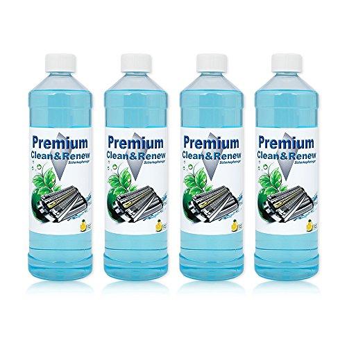 4 Liter Premium Scherkopfreiniger zum Nachfüllen von Braun Clean&Charge Stationen der Serie: 9070cc / 9075cc / 9090cc